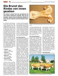 Die Brunst des Rindes von innen gesehen - Swissgenetics