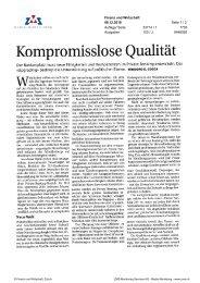 F&W: Kompromisslose Qualität - Swiss Finance Institute