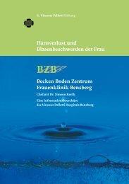 Harnverlust und Blasenbeschwerden der Frau BZB Becken Boden ...