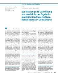 Zur Messung und Darstellung von medizinischer Ergebnis- qualität ...