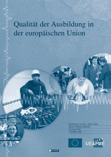 Qualität der Ausbildung in der europäischen Union - UEAPME