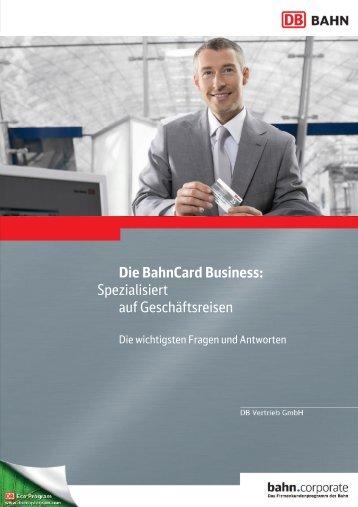 Die BahnCard Business: Spezialisiert auf Geschäftsreisen