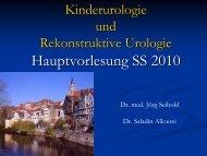Urethralklappe - Universitätsklinikum Tübingen, Klinik für Urologie