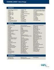 CHANNEL LINEUP - Baton Rouge - Cox Communications