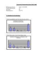 Auswertung Patientenfragebogen 2008