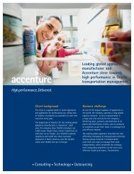 Leading global appliance manufacturer and Accenture steer ...