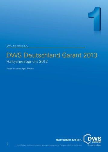 DWS Deutschland Garant 2013