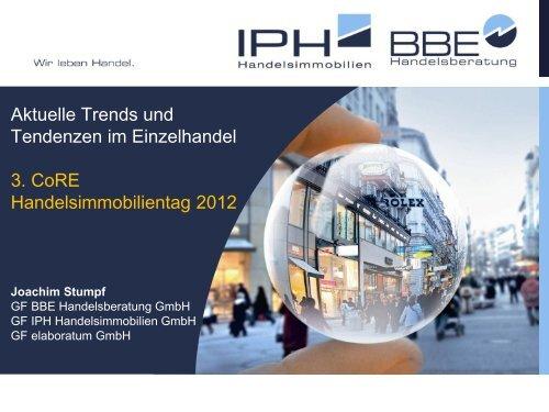 Joachim Stumpf, Aktuelle Trends und Tendenzen im Einzelhandel