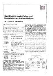 Qualitätssicherung bei Rohren und Formstücken aus duktilem ...