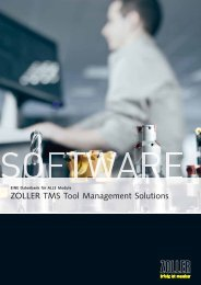 ZOLLER TMS Tool Management Solutions – Services
