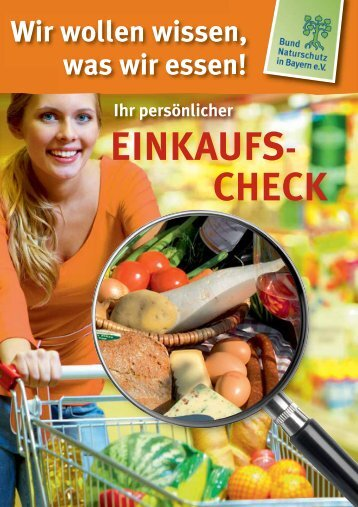 EINKAUFS- CHECK - Bund Naturschutz in Bayern eV