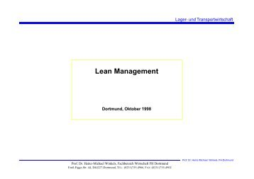 Lean Management - Prof. Dr. Heinz-Michael Winkels