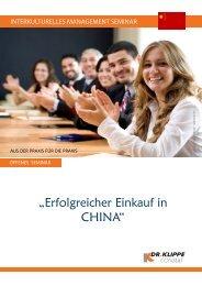 """""""Erfolgreicher Einkauf in CHINA"""" - Dr. Klippe Consult"""