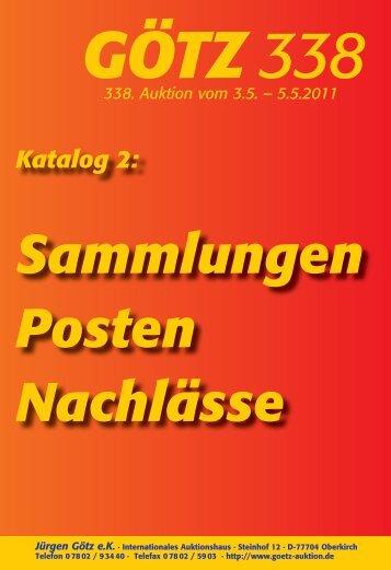 Sammlungen Posten Nachlässe - Auktionshaus Jürgen Götz