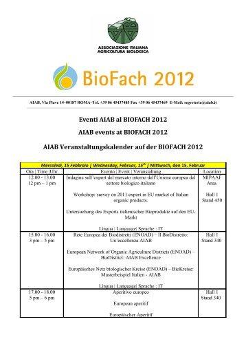 Consulta il programma culturale di AIAB al Biofach - Vini e Sapori