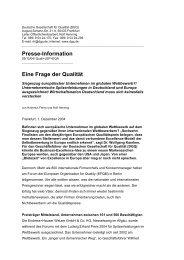Presse-Information Eine Frage der Qualität - DGQ