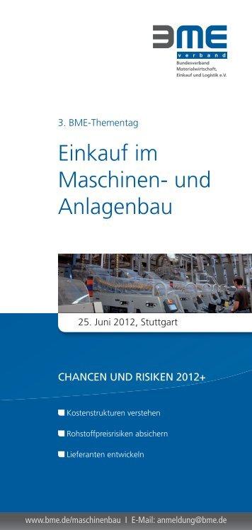 Einkauf im Maschinen- und Anlagenbau - BME