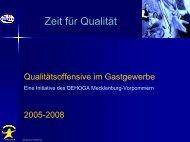 Qualitätsoffensive im Gastgewerbe - Schweriner Bildungswerkstatt
