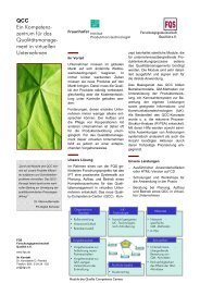 QCC Ein Kompetenz- zentrum für das Qualitätsmanage- ment ... - DGQ