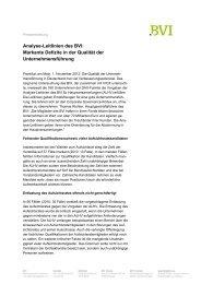 Analyse-Leitlinien des BVI: Markante Defizite in der Qualität der ...