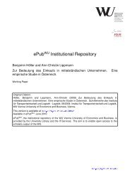 Download (2005Kb) - Electronic Publications of the WU-Wien ...