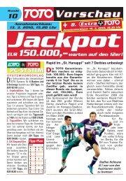 Jackpot EUR 150.000,–warten auf den 12er! - win2day