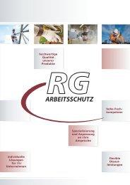 hochwertige Qualität unserer Produkte hohe ... - RG Arbeitsschutz