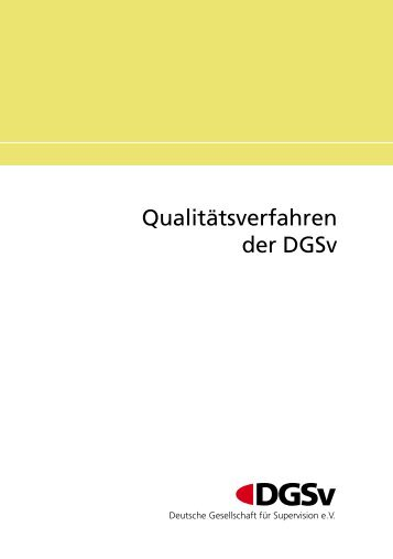 Qualitätsverfahren der DGSv