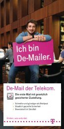 De-Mail Flyer als Download - Telekom