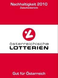 Nachhaltigkeit 2010 Gut für Österreich - Österreichische Lotterien