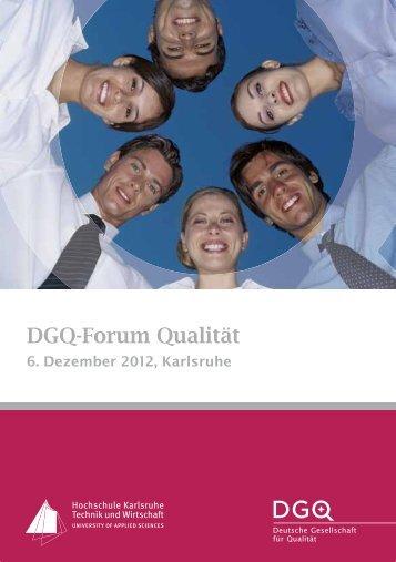 DGQ-Forum Qualität - Hochschule Karlsruhe – Technik und Wirtschaft