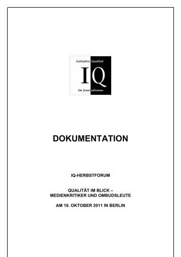 dokumentation - Initiative Qualität