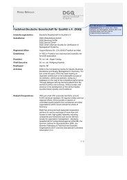 Factsheet Deutsche Gesellschaft für Qualität e.V. (DGQ)