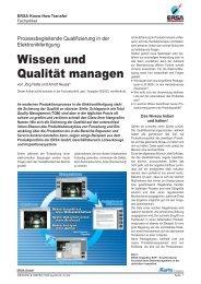 Wissen und Qualität managen - Ersa