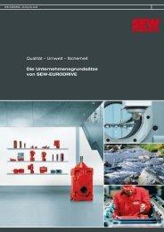Qualität – Umwelt – Sicherheit Die ... - SEW Eurodrive