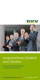 Ausgezeichnete Qualität setzt Zeichen - DKV