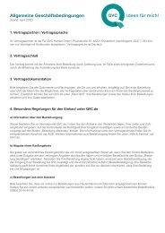 Allgemeine Geschäftsbedingungen - QVC