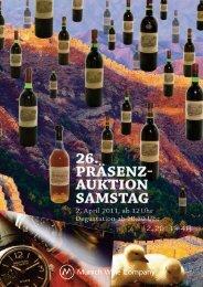 26. präsenz- auktion erlesener weine - Munich Wine Company