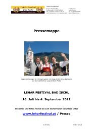 Europerette 2011 - Lehár Festival in Bad Ischl