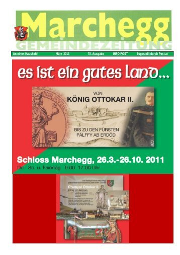 Gemeindezeitung März 2011 (7,15 MB) - Stadtgemeinde Marchegg