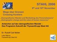 Programm Zukunft der ThyssenKrupp Steel AG