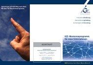 IGZ- Mentorenprogramm für neue Unternehmen - IGZ Bamberg