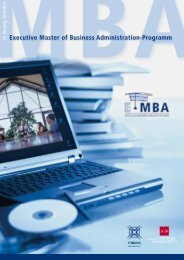 Das Programm - E MBA Mainz