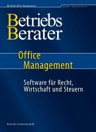 Software 1. Halbjahr 2012 - Betriebs-Berater