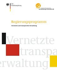 Regierungsprogramm Vernetzte und transparente Verwaltung - des ...