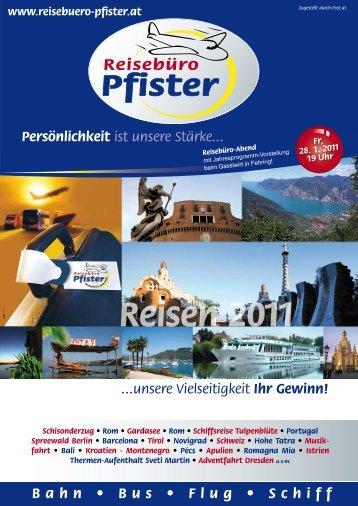 Reisen 2011 - reisebuero-pfister.at | Home