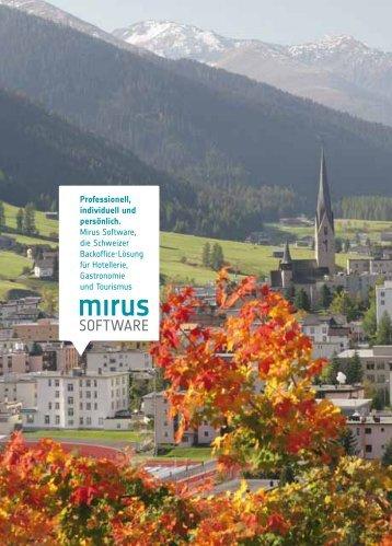 Professionell, individuell und persönlich. Mirus Software, die ...