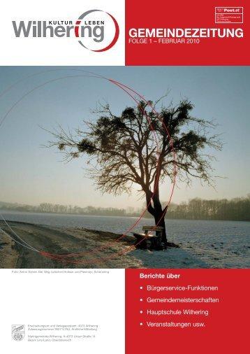 Gemeindezeitung 1 / 2010 (2,17 MB) - Gemeinde Wilhering
