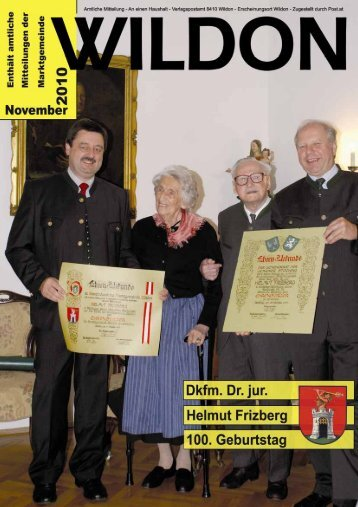 Hier können Sie die Gemeindezeitung von November 2010 - Wildon