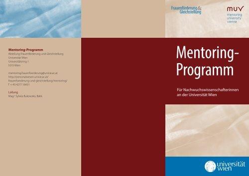 Mentoring- Programm - Personalwesen und Frauenförderung ...